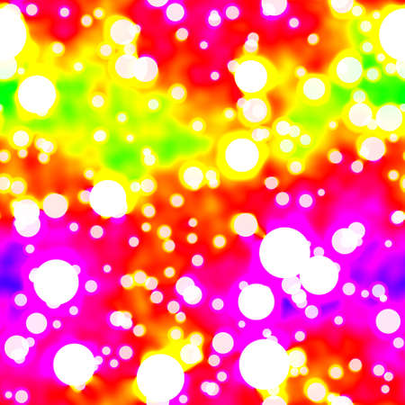 infra neon bokeh seamless pattern texture - spectrum background with white dots