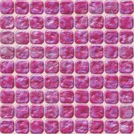 significantly: pink stone tiles mosaic seamless pattern texture background with squares with round corners