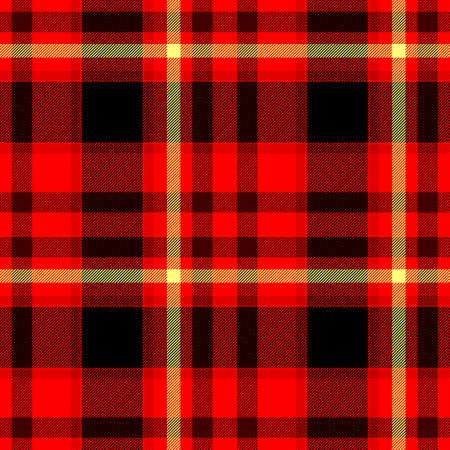 scots: red black yellow checkered diamond tartan plaid seamless pattern texture background