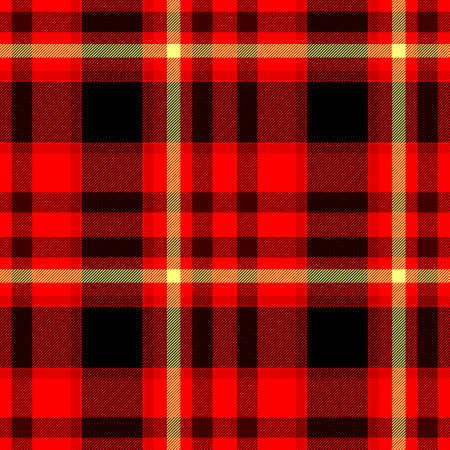red black yellow checkered diamond tartan plaid seamless pattern texture background