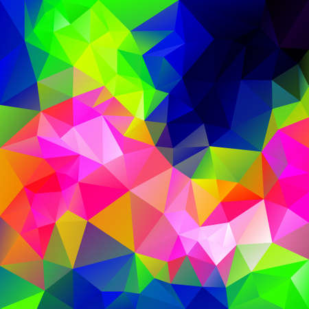 infra: vector polygonal background with irregular tessellations pattern - triangular design in infra neon colors - full color spectrum Illustration