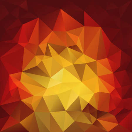 flames vector: vector polygonal background with irregular tessellations pattern - triangular design in fire flames colors - red, orange, yellow Illustration