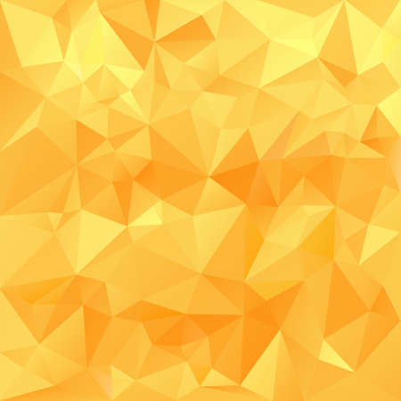 vector polygonal background with irregular tessellations pattern - triangular design in honey sunny colors - yellow, orange