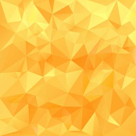 vector polygonal background with irregular tessellations pattern - triangular design in honey sunny colors - yellow, orange