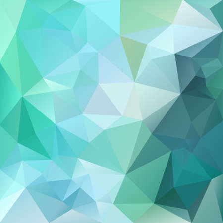 vector polygon background with irregular tessellations pattern - triangular design in green colors - emerald, agate, aventurine, saphire