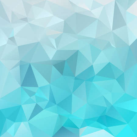 vector polygon background with irregular tessellations pattern - triangular design in ice colors - blue