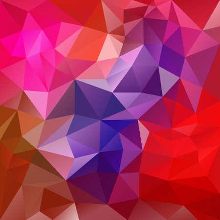 tessellation: vector polygon background with irregular tessellation pattern - triangular geometric design in vibrant color - red, violet, pink, magenta Illustration