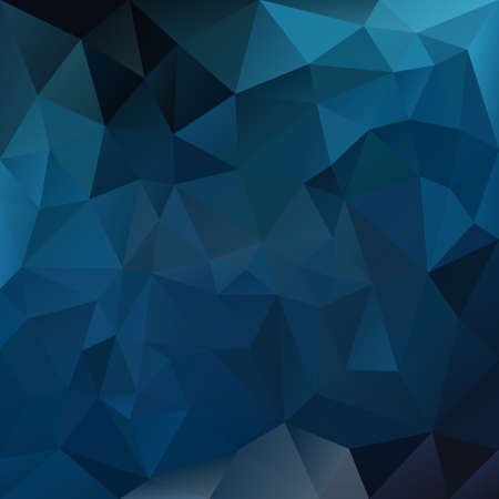 tessellation: vector polygon background with irregular tessellation pattern - triangular geometric design in dark sapphire blue color