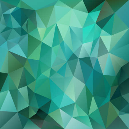 vector polygon background with irregular tessellations pattern - triangular geometric design in green color - emerald Illustration