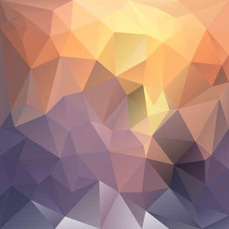 sunup: vector polygon background with irregular tessellations pattern - triangular geometric design in sundown color