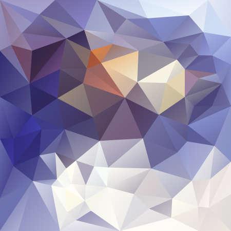벡터 비정형 tessellations와 다각형 배경 패턴 - 삼각형 기하학적 디자인 겨울 색상 - 파란색, 흰색, 노란색 일러스트