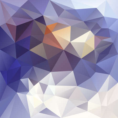 vector polygon background with irregular tessellations pattern - triangular geometric design in winter color - blue, white, yellow