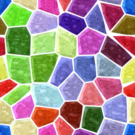 wallboard: full color irregular marble mosaic seamless pattern texture background Stock Photo