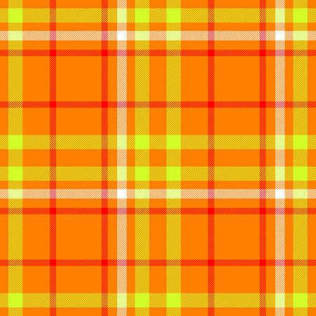 scots: orange yellow checkered diamond tartan plaid seamless pattern texture background