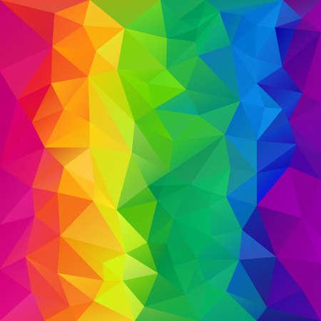 tessellation: vector polygon background with irregular tessellation pattern - triangular geometric design in full color - rainbow spectrum