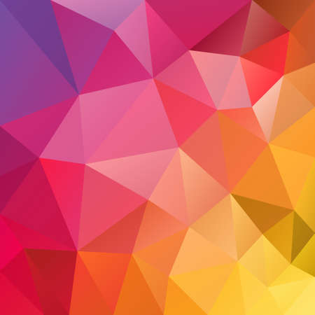 vector polygon background with irregular tessellation pattern - triangular geometric design in full spectrum color - yellow, red, pink, violet Illustration