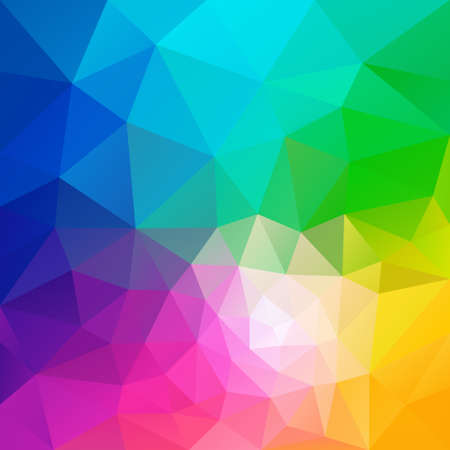 rainbow vector: vector polygon background with irregular tessellation pattern - triangular geometric design in full color - rainbow spectrum