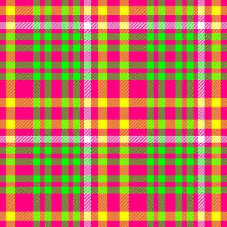 scots: hot pink green check diamond tartan plaid fabric seamless pattern texture background