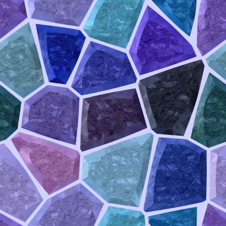 wallboard: purple, blue and marble irregular stony mosaic seamless pattern texture background with violet grout