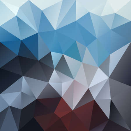 vector polygon background with irregular tessellation pattern - triangular geometric design in mountain color - blue, brown, gray, black