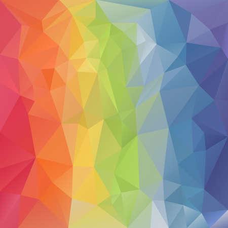 Vektor-Polygon-Hintergrund mit unregelmäßigen Tessellation Muster - Dreiecks geometrische Gestaltung in Farbe - Pastellregenbogen-Spektrum