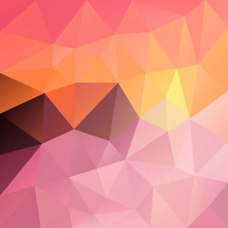 tessellation: vector polygon background with irregular tessellation pattern - triangular geometric design in sundown color - sweet pastel pink Illustration