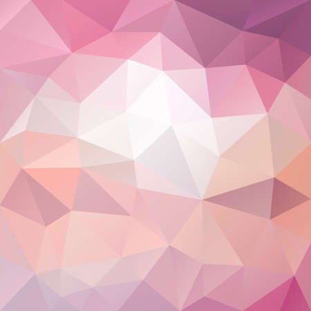 tessellation: vector polygon background with irregular tessellation pattern - triangular geometric design in sweet pastel color - pink