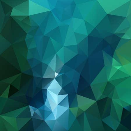 vector polygon background with irregular tessellation pattern - triangular geometric design in dark emerald color - green and blue Illustration