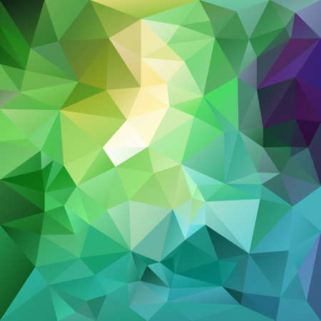 tessellation: vector polygon background with irregular tessellation pattern - triangular geometric design in fresh spring color - green, blue, purple, yellow