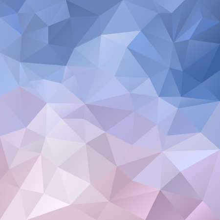 winterly: vector polygon background with irregular tessellation pattern - triangular geometric design in pastel icy color - blue, violet, purple