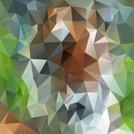 forestry: vector polygon background with irregular tessellation pattern - triangular geometric design in natural forestry color - green, white and brown Illustration