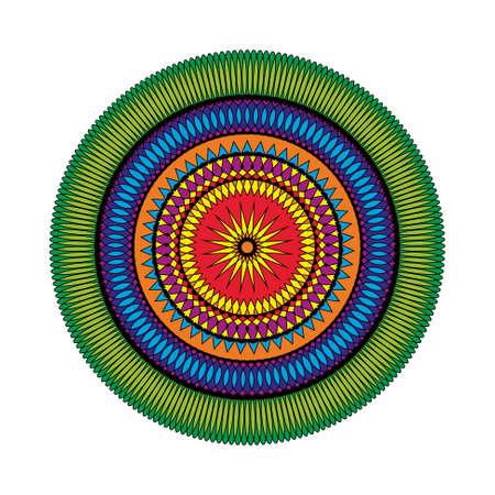 Vektor-Malbuch-Seite Kreismuster Mandala Star farbigen - geometrische Formen