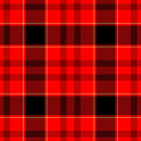 cloth manufacturing: red black scottish check diamond tartan plaid fabric seamless pattern texture background Stock Photo