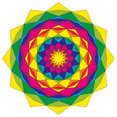 astral: Circular astral geometric pattern mandala colorful colored - mystic background
