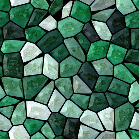 stony: emerald green marble irregular plastic stony mosaic seamless pattern texture background with dark grout