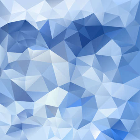 tessellation: vector abstract irregular polygon background with a triangular pattern in ice blue colors Illustration