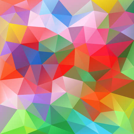 tessellation: vector abstract irregular polygon background with a triangular pattern in spring colorful spectrum colors