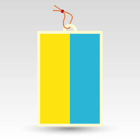 paper hanger: vector simple ukrainian price tag - symbol of made in ukraine - label with national flag and string Illustration