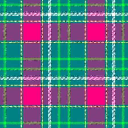 scots: green pink white check diamond tartan plaid fabric seamless pattern texture background