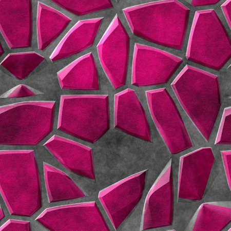 wallboard: natural pink paving mosaic stone seamless pattern texture background