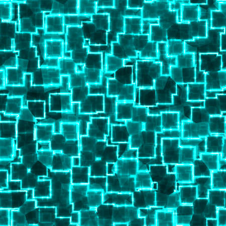 shards: blue green turquoise glow geometric squares seamless pattern texture background