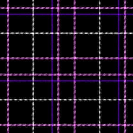 black check diamond tartan plaid fabric seamless pattern texture background with pink, purple and white strips