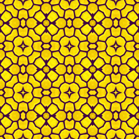 wallboard: yellow floral marble stony mosaic seamless pattern texture background Stock Photo