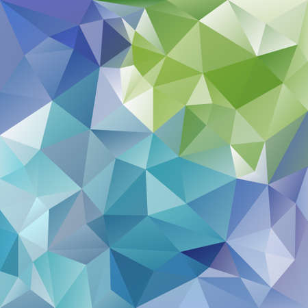 tessellated: vector abstract irregular polygon background with a triangular pattern in blue and green colors