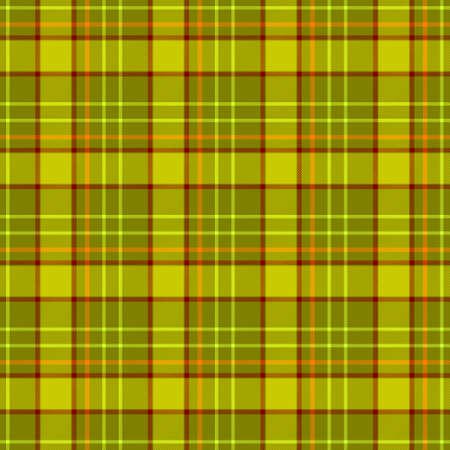 scots: green khaki brown orange check diamond tartan plaid fabric seamless pattern texture background