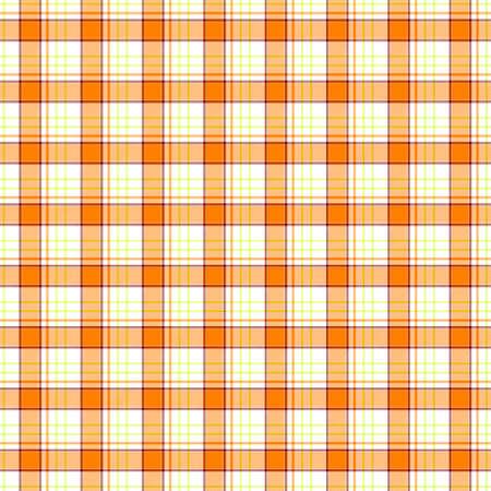 scots: white orange yellow check diamond tartan plaid fabric seamless pattern texture background