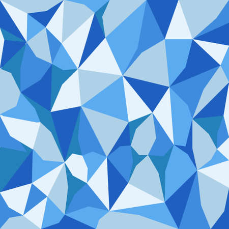 tessellation: vector abstract irregular polygon background with pattern in sky blue colors Illustration