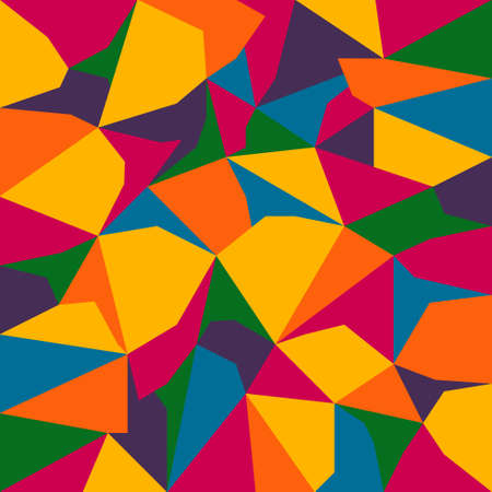 color spectrum: vector abstract irregular polygon background with pattern in full color spectrum colors Illustration
