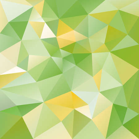 tessellation: vector abstract irregular polygon background with a triangular pattern in fresh green and yellow colors