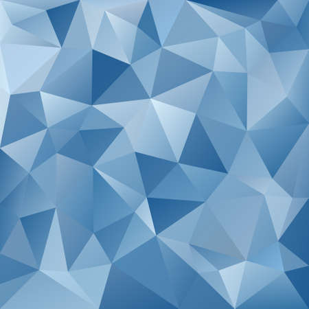 glacial: vector abstract irregular polygon background with a triangular pattern in ice blue colors Illustration